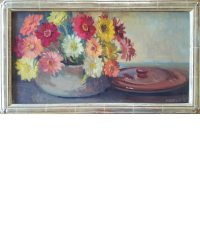 Abbott, Meridith Brooks_Zinnias In A Bean Pot small-3